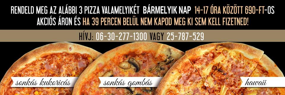 Pizza akció 14 és 17 óra között